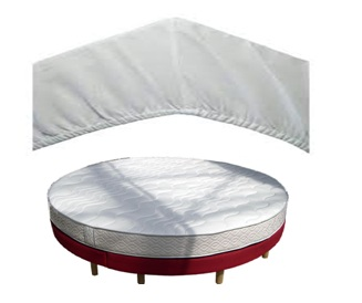 Drap housse lit rond ikea table de lit a roulettes for Lit rond ikea
