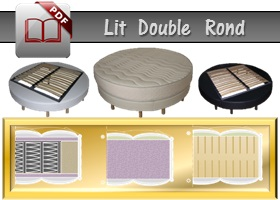 lit double rond luxe en catalogue