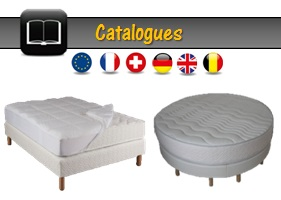 matelas ik a lit rond fr literie ik a. Black Bedroom Furniture Sets. Home Design Ideas